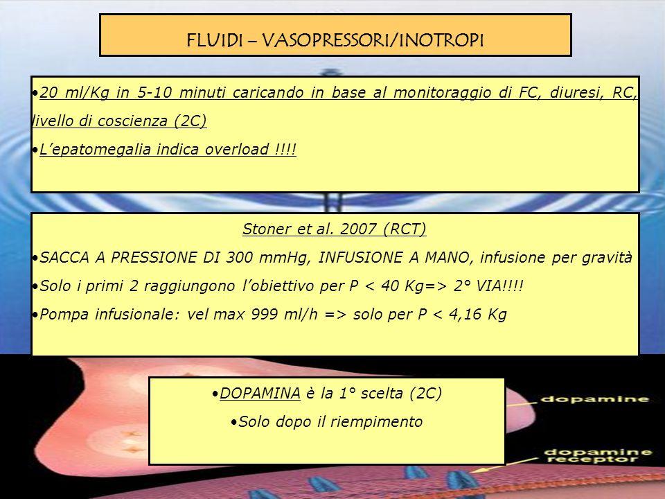 FLUIDI – VASOPRESSORI/INOTROPI