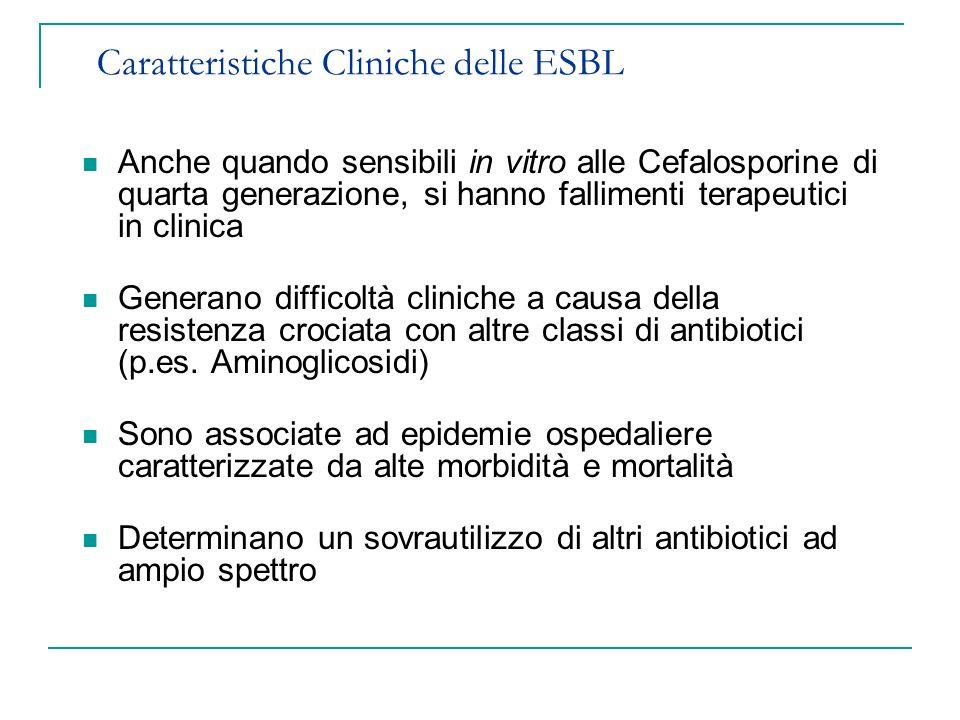 Caratteristiche Cliniche delle ESBL