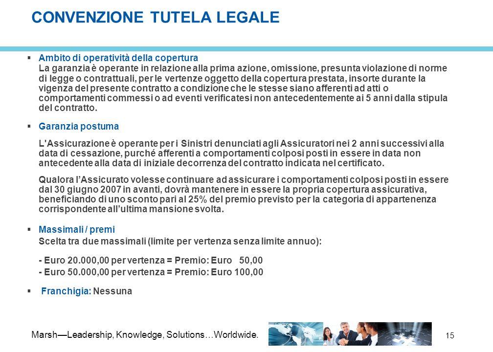 CONVENZIONE TUTELA LEGALE