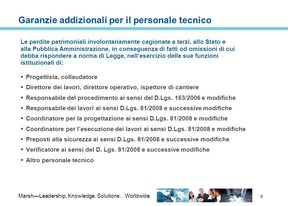 Garanzie addizionali per il personale tecnico