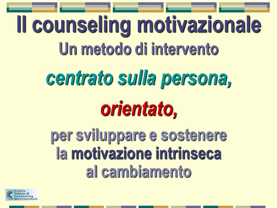 Il counseling motivazionale