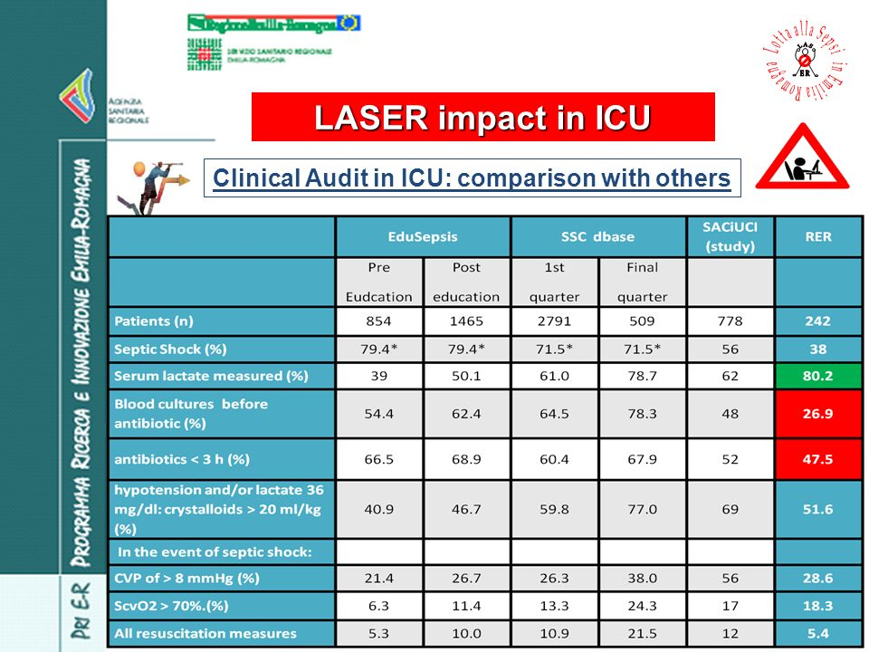Clinical Audit in ICU: comparison with others