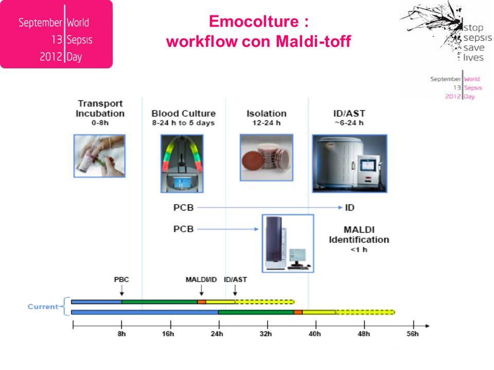 Emocolture : workflow con Maldi-toff