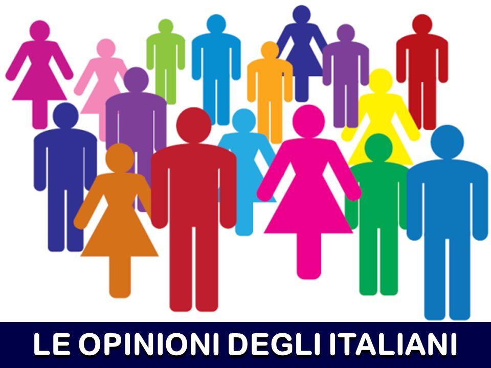 LE OPINIONI DEGLI ITALIANI