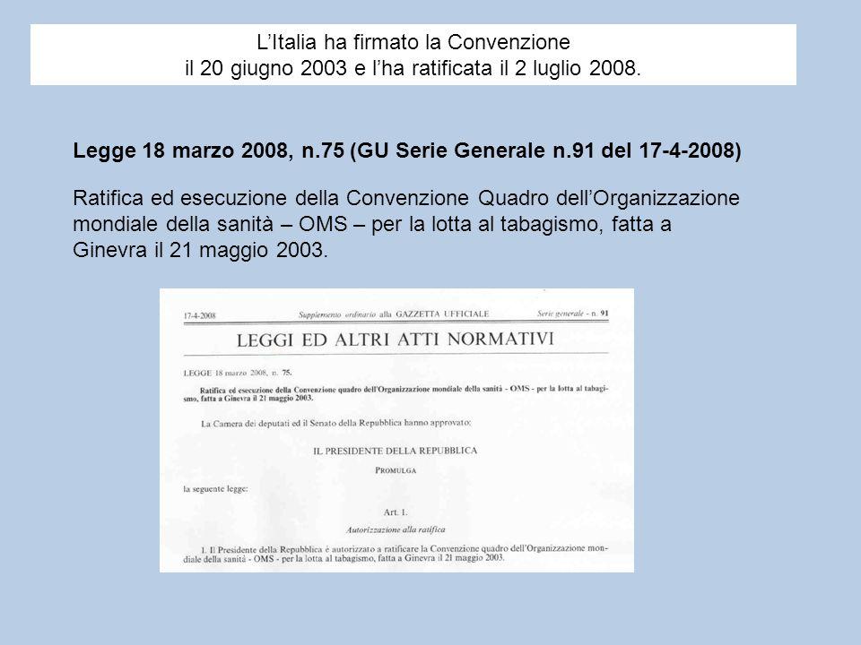 L'Italia ha firmato la Convenzione