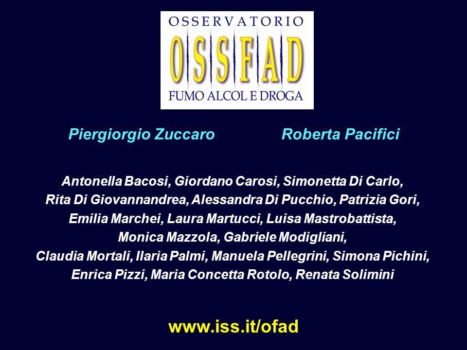 www.iss.it/ofad Piergiorgio Zuccaro Roberta Pacifici