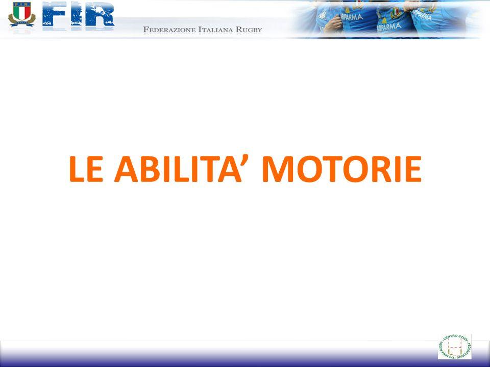LE ABILITA' MOTORIE