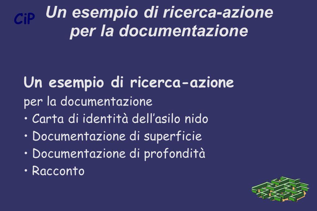 Un esempio di ricerca-azione per la documentazione