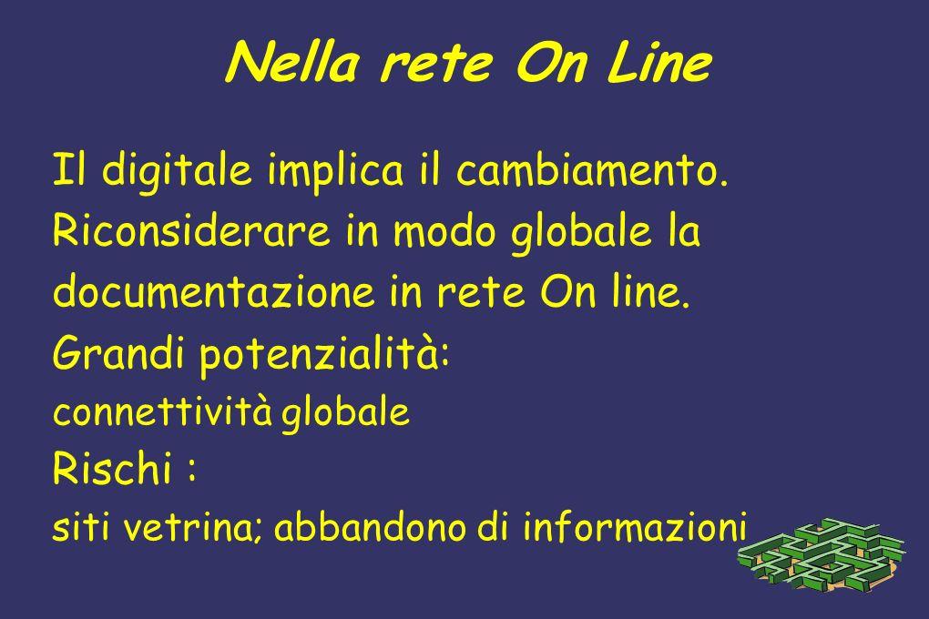 Nella rete On Line Il digitale implica il cambiamento.