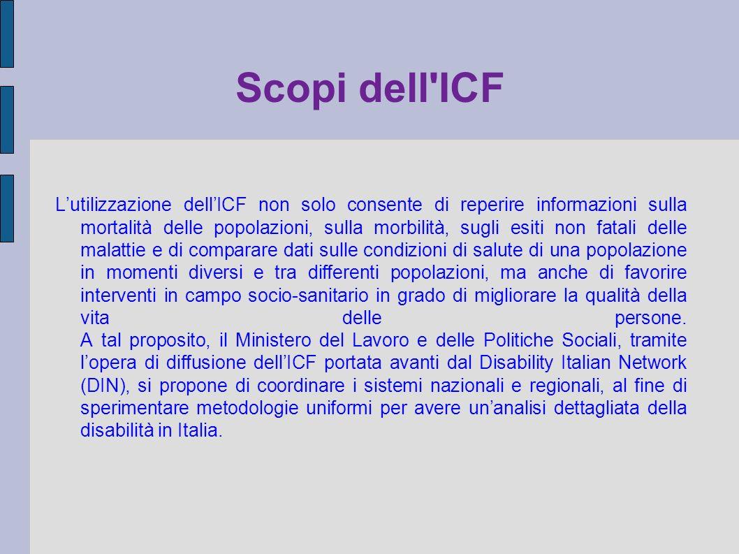 Scopi dell ICF