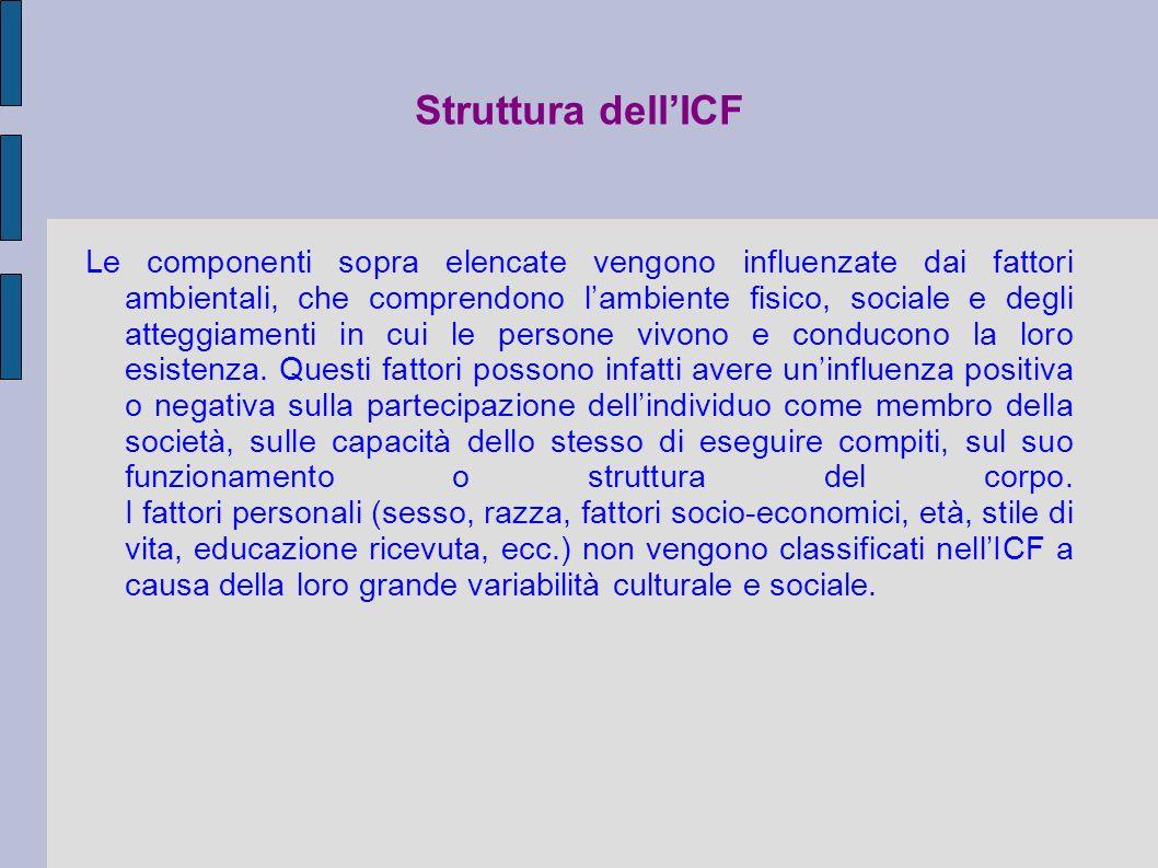 Struttura dell'ICF