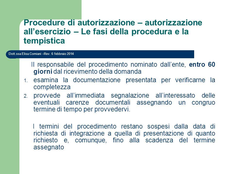 Procedure di autorizzazione – autorizzazione all'esercizio – Le fasi della procedura e la tempistica