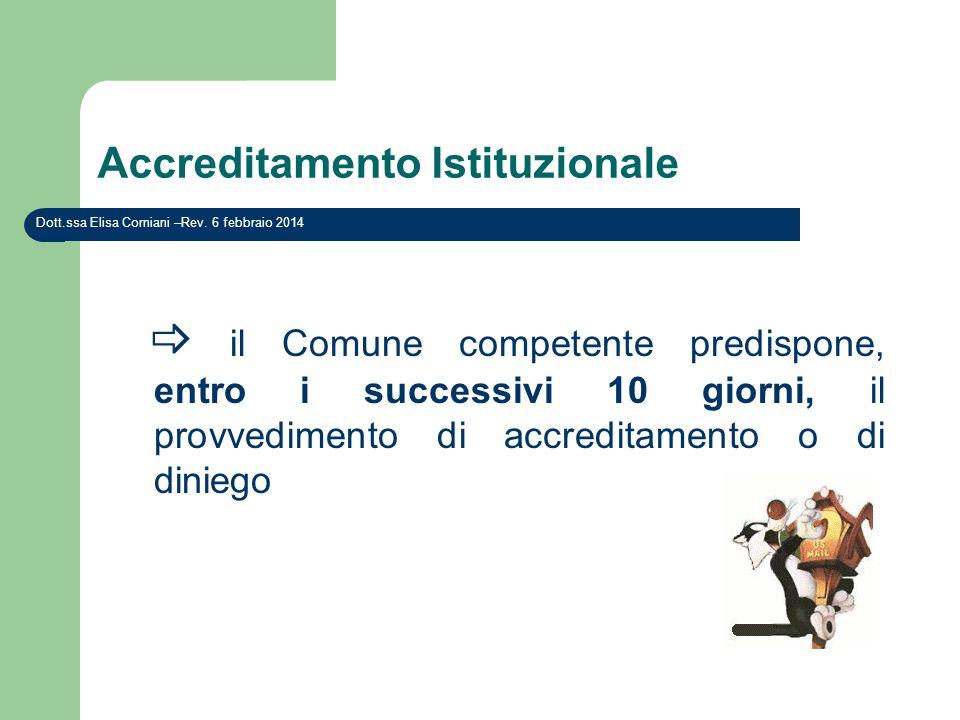 Accreditamento Istituzionale