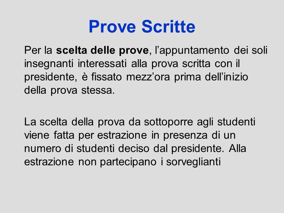Prove Scritte