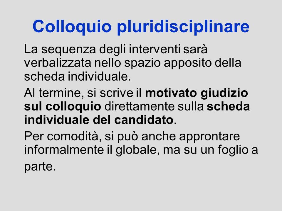 Colloquio pluridisciplinare