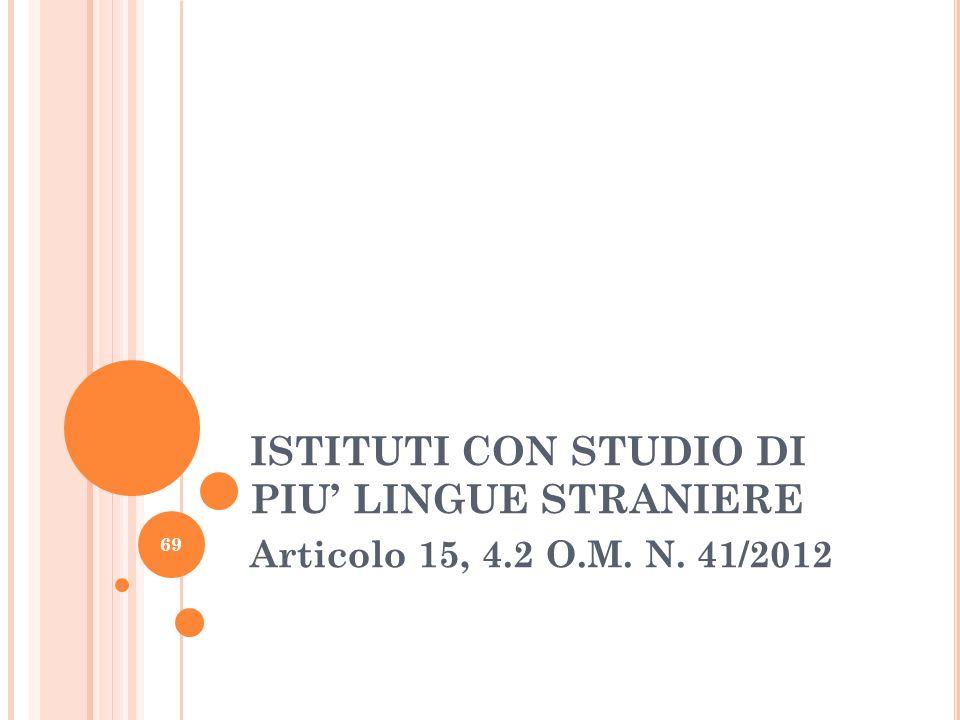ISTITUTI CON STUDIO DI PIU' LINGUE STRANIERE