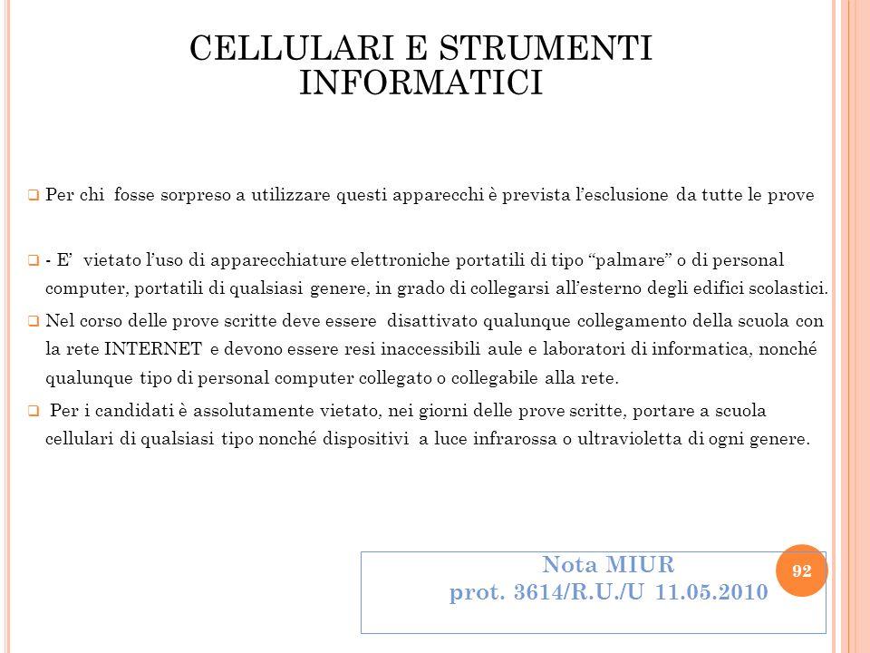 CELLULARI E STRUMENTI INFORMATICI
