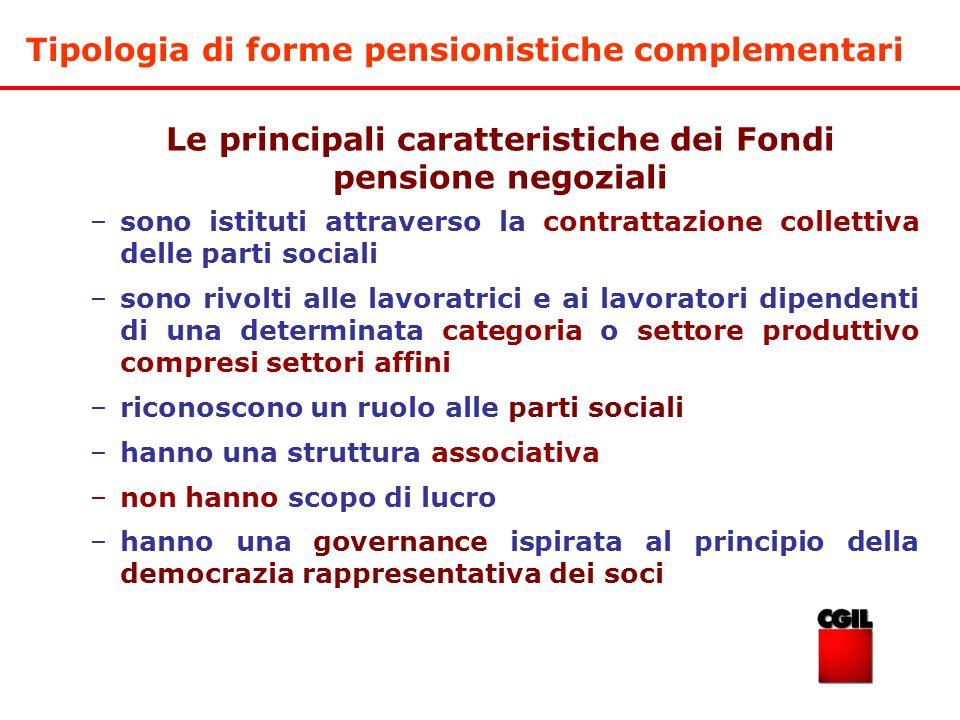 Le principali caratteristiche dei Fondi pensione negoziali