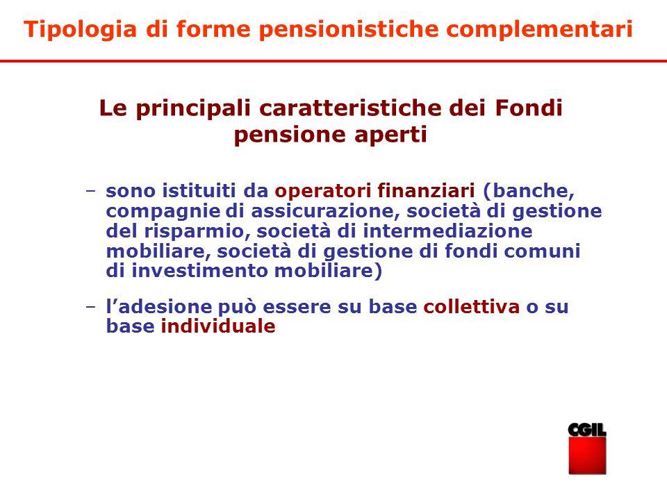 Le principali caratteristiche dei Fondi pensione aperti