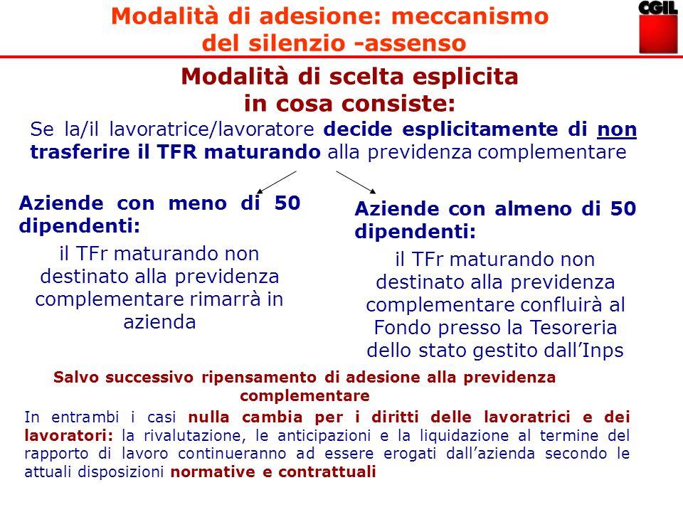 Modalità di adesione: meccanismo del silenzio -assenso
