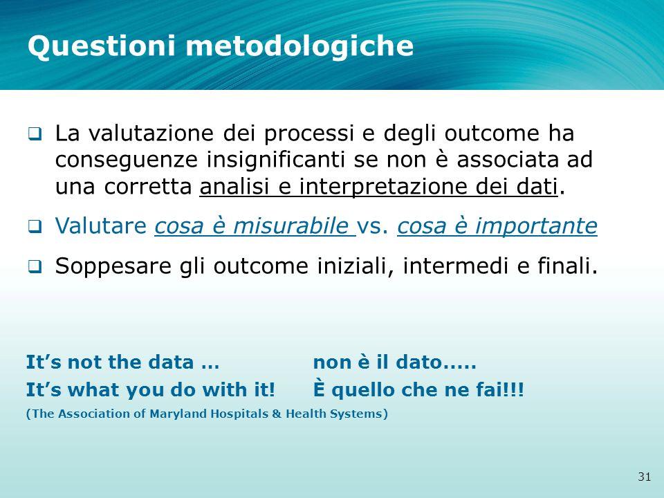 Questioni metodologiche
