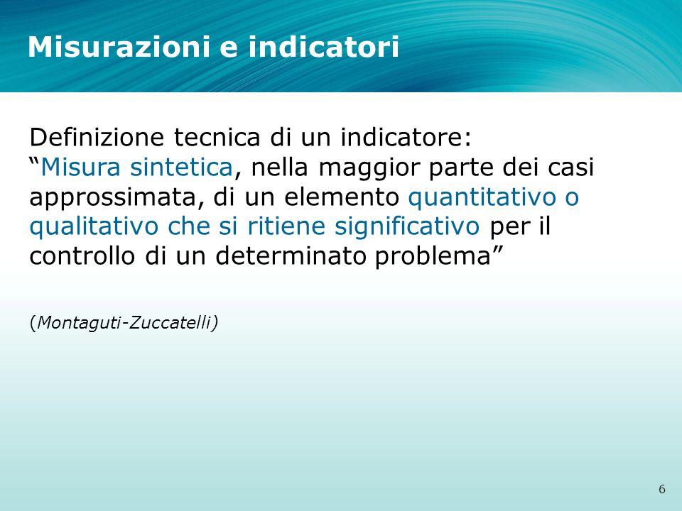 Misurazioni e indicatori