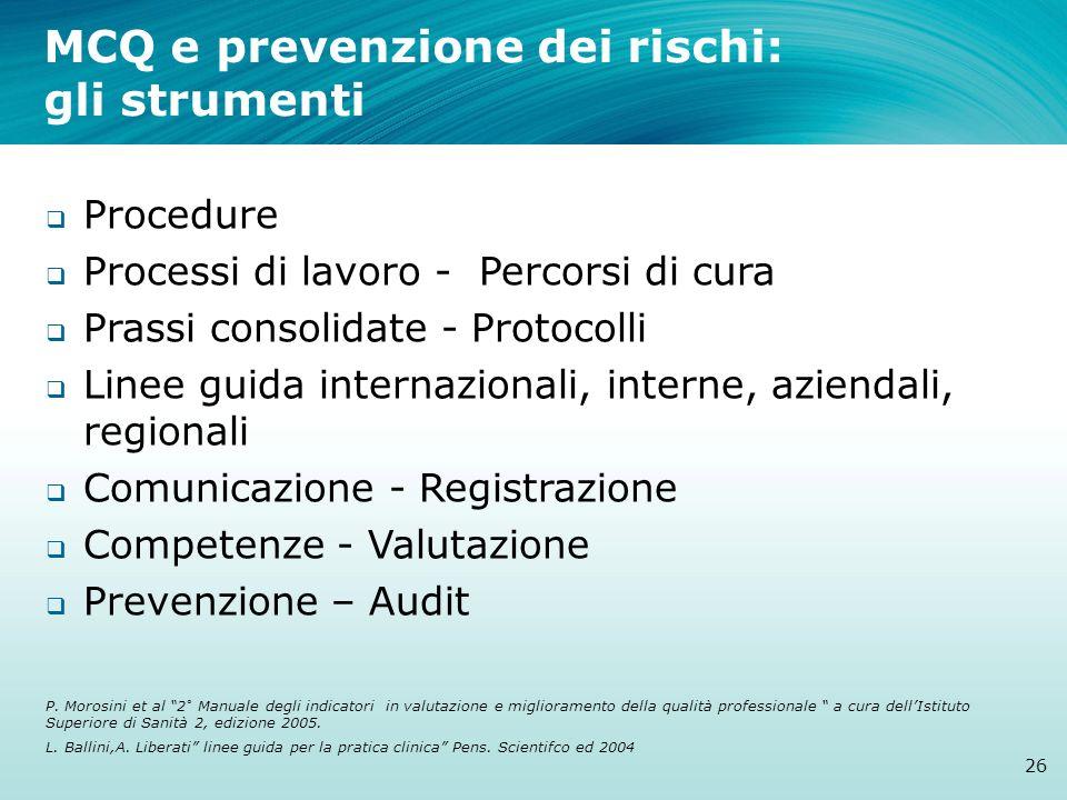 MCQ e prevenzione dei rischi: gli strumenti
