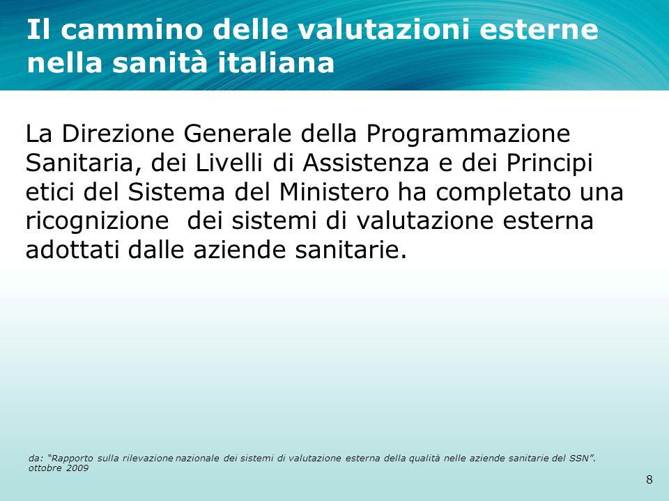 Il cammino delle valutazioni esterne nella sanità italiana