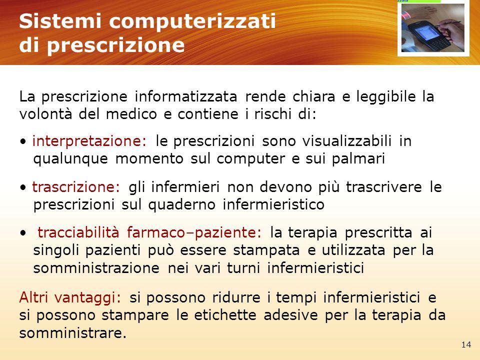 Sistemi computerizzati di prescrizione