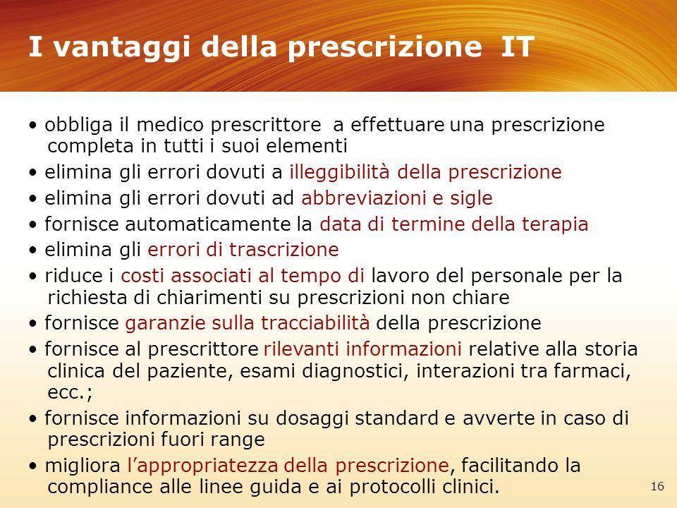 I vantaggi della prescrizione IT