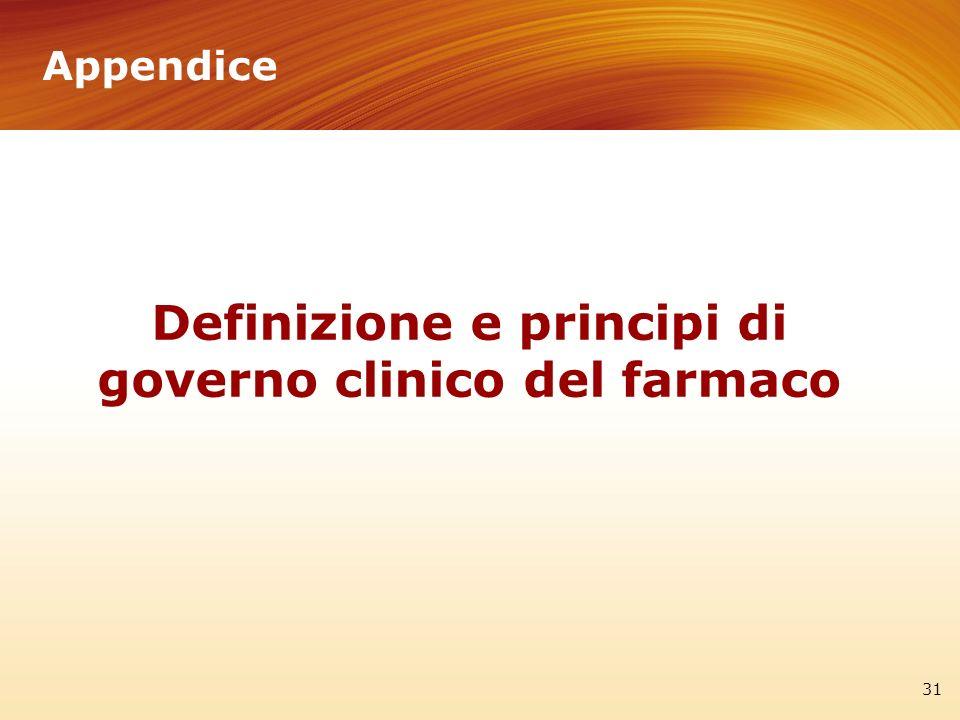 Definizione e principi di governo clinico del farmaco