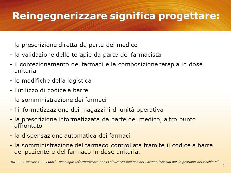 Reingegnerizzare significa progettare: