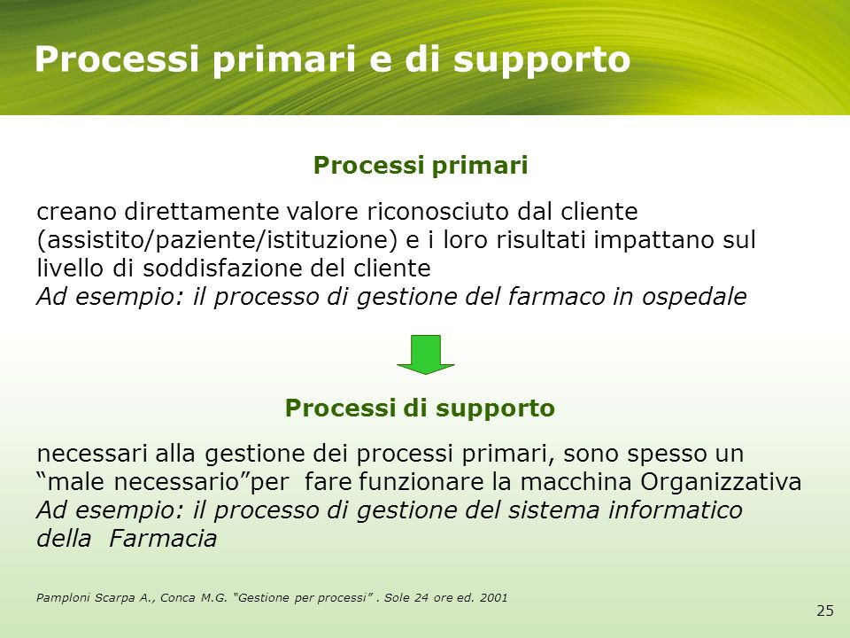 Processi primari e di supporto