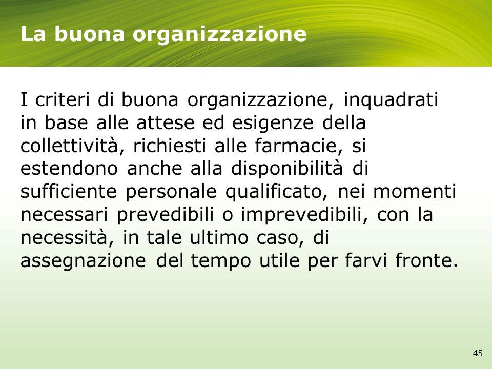 La buona organizzazione