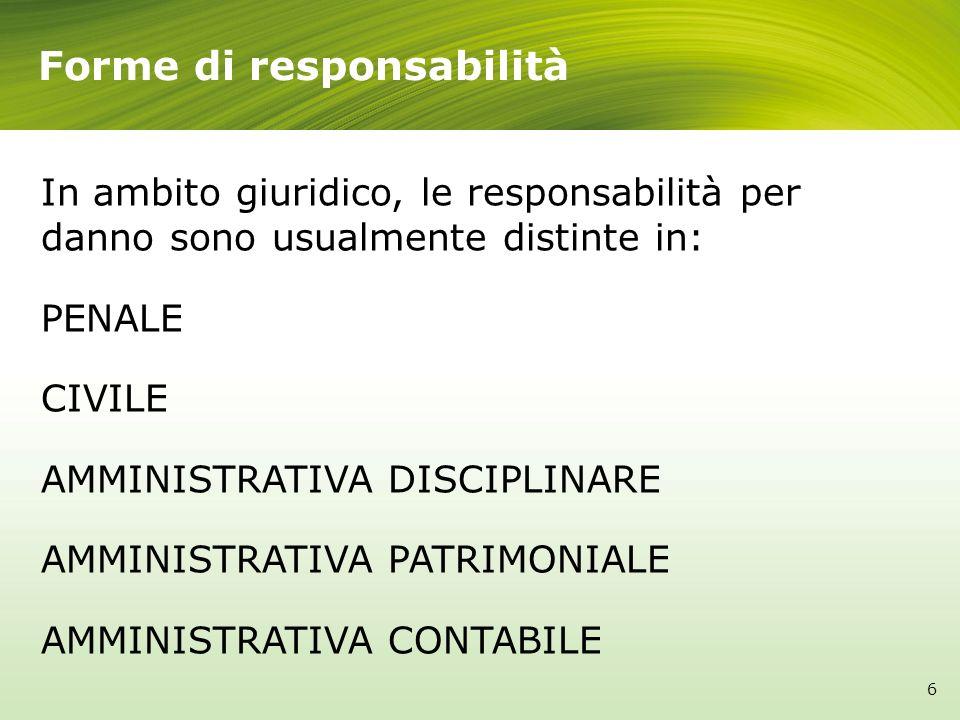 Forme di responsabilità