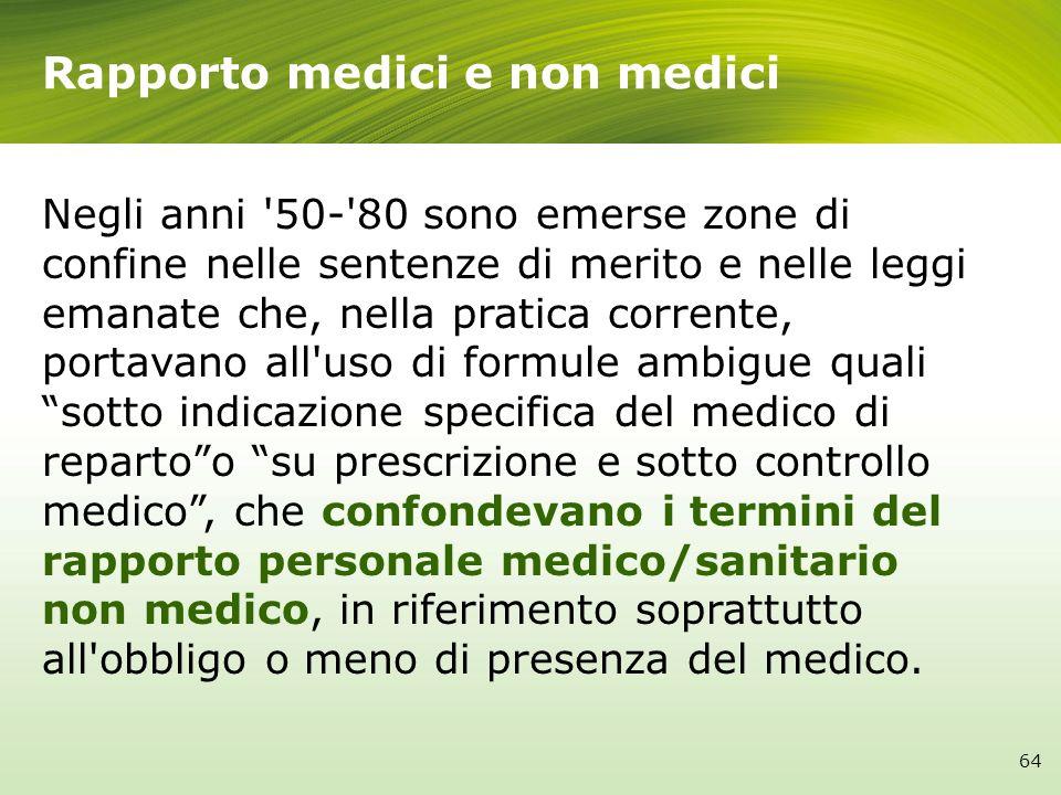 Rapporto medici e non medici