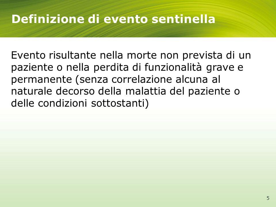 Definizione di evento sentinella