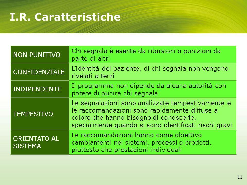 I.R. Caratteristiche NON PUNITIVO