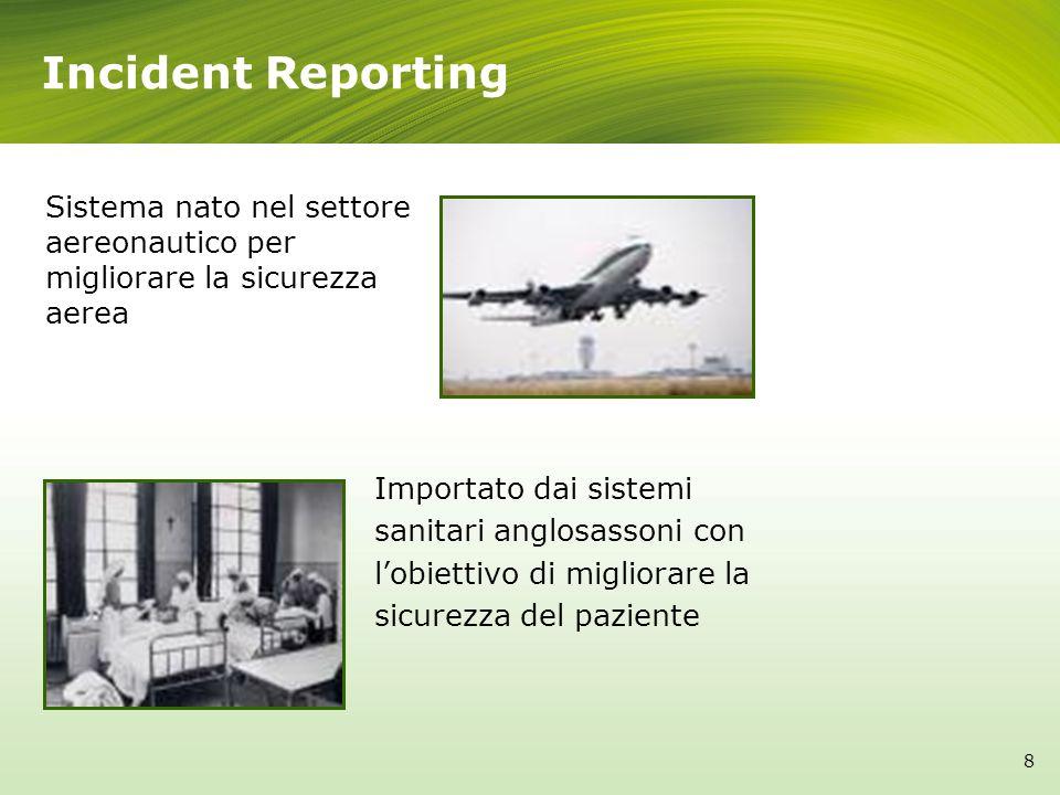Incident ReportingSistema nato nel settore aereonautico per migliorare la sicurezza aerea.