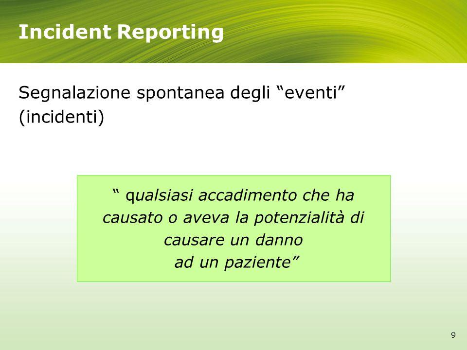 Segnalazione spontanea degli eventi (incidenti)