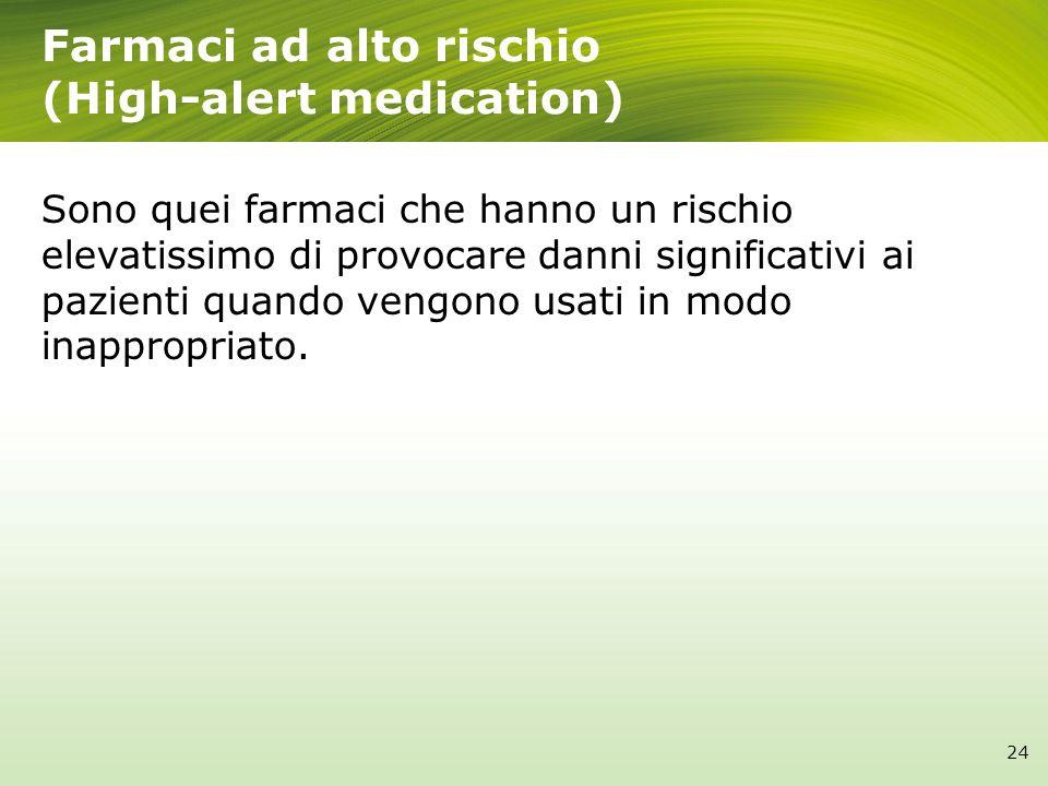 Farmaci ad alto rischio (High-alert medication)