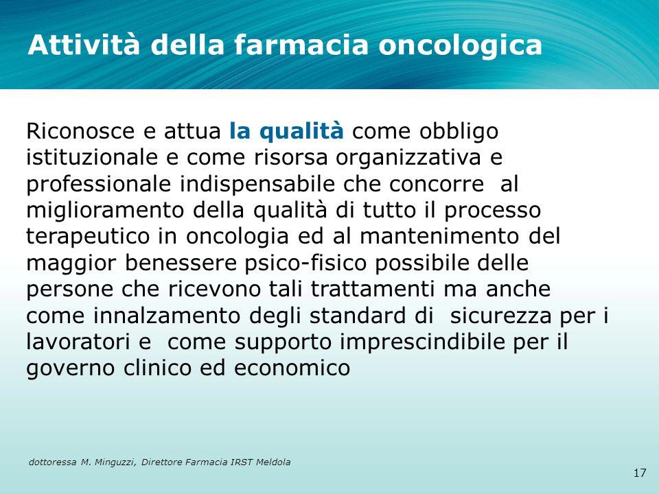 Attività della farmacia oncologica