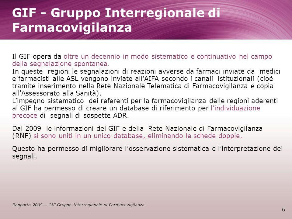 GIF - Gruppo Interregionale di Farmacovigilanza
