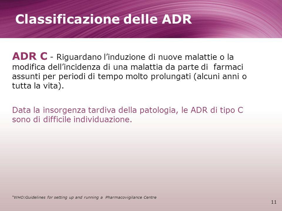 Classificazione delle ADR