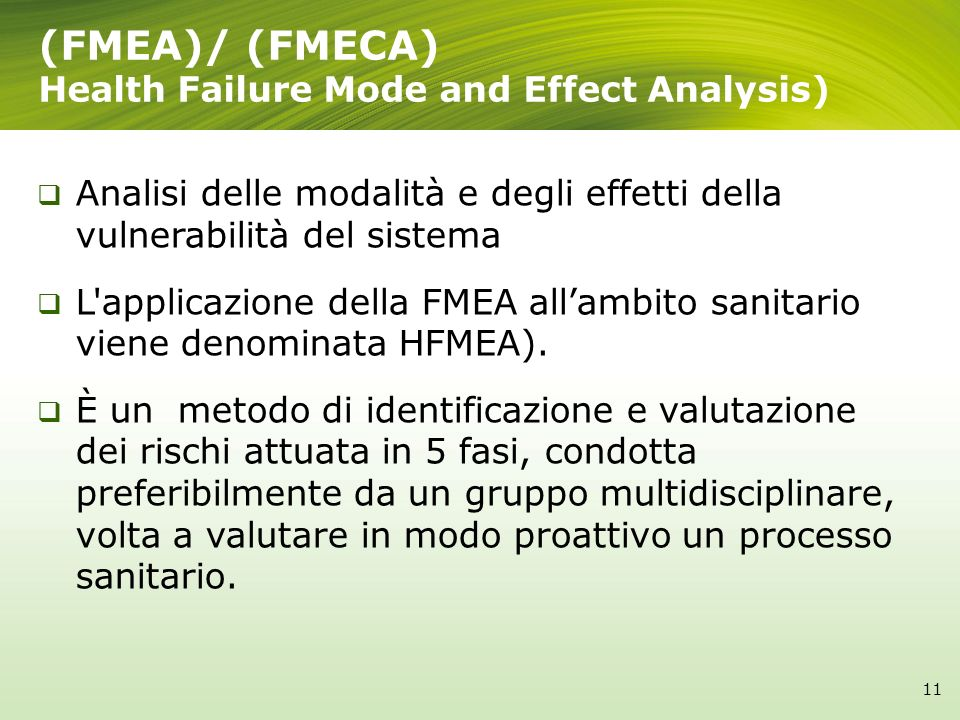 (FMEA)/ (FMECA) Health Failure Mode and Effect Analysis)