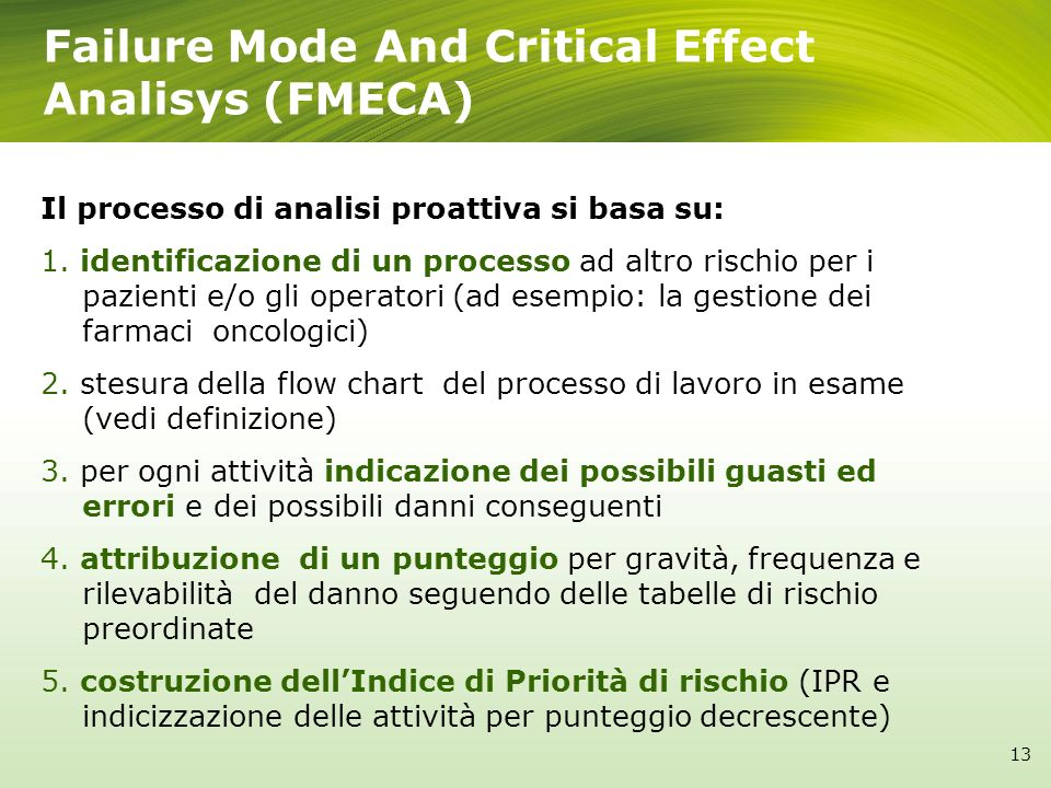 Failure Mode And Critical Effect Analisys (FMECA)