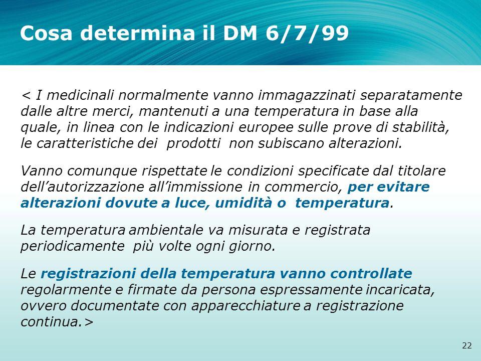 Cosa determina il DM 6/7/99