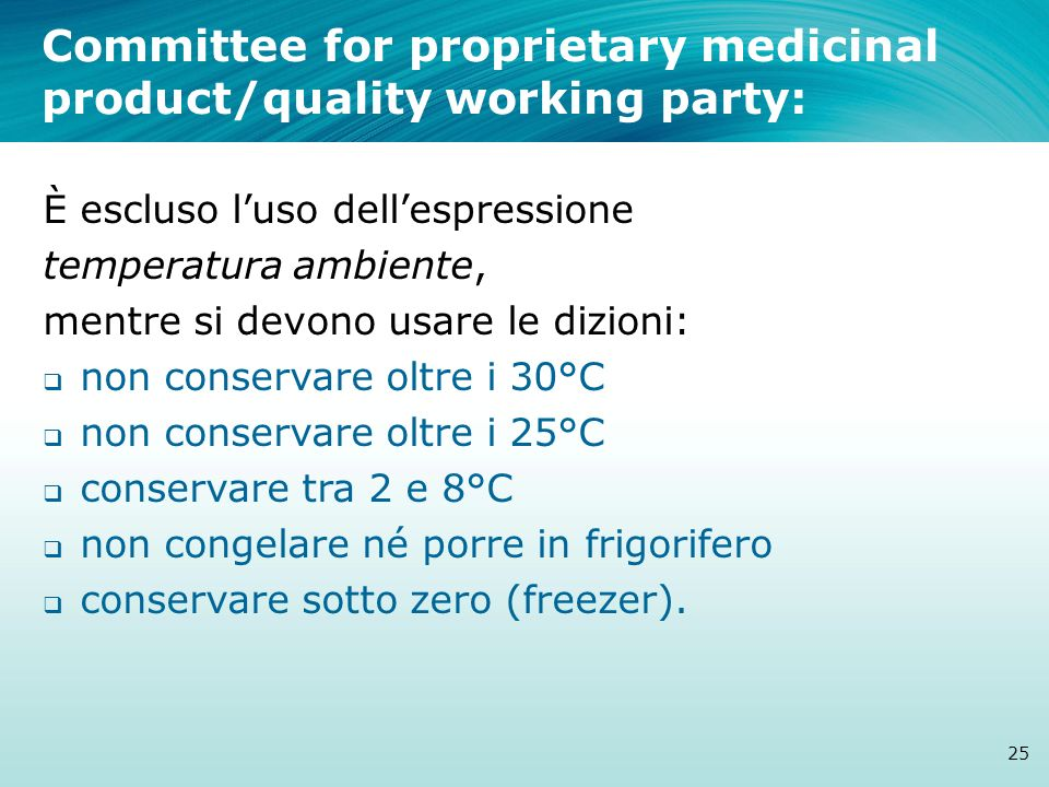 Committee for proprietary medicinal product/quality working party: