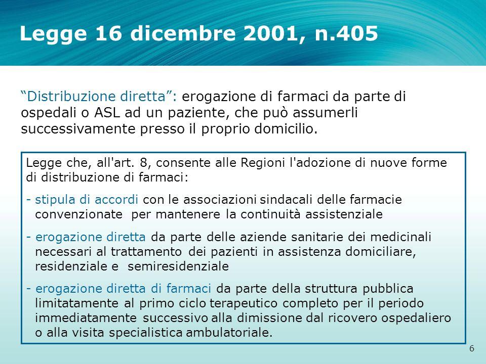 Legge 16 dicembre 2001, n.405