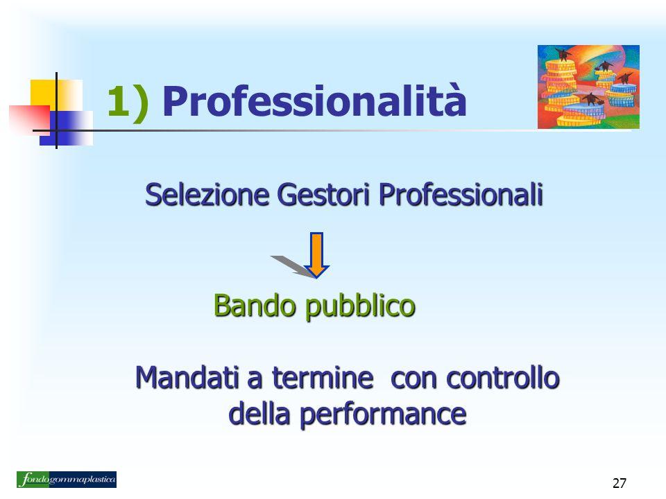 1) Professionalità Selezione Gestori Professionali Bando pubblico